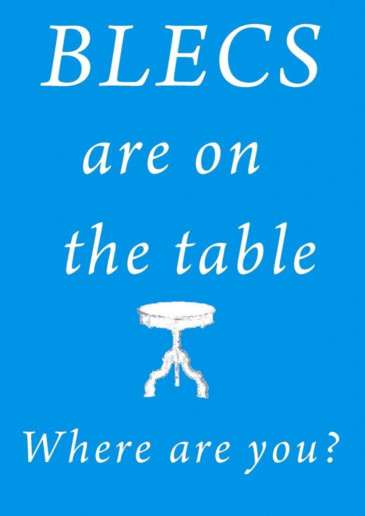 blecs are on the table