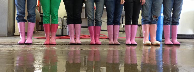 pink boots society people
