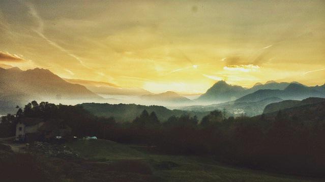 visione di carnia_comunicare_tramonto