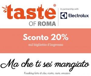 Sconto taste of Roma