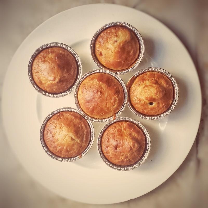 muffin con uva e vin santo